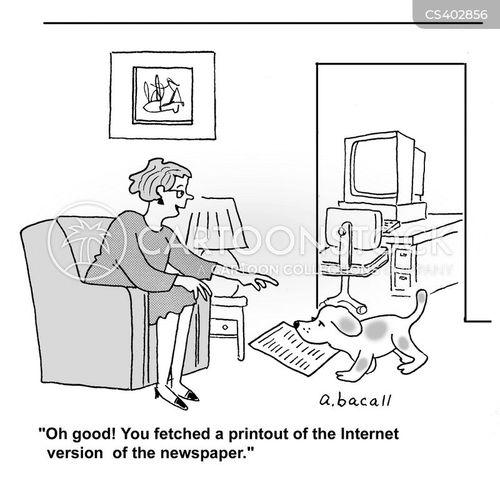 printouts cartoon