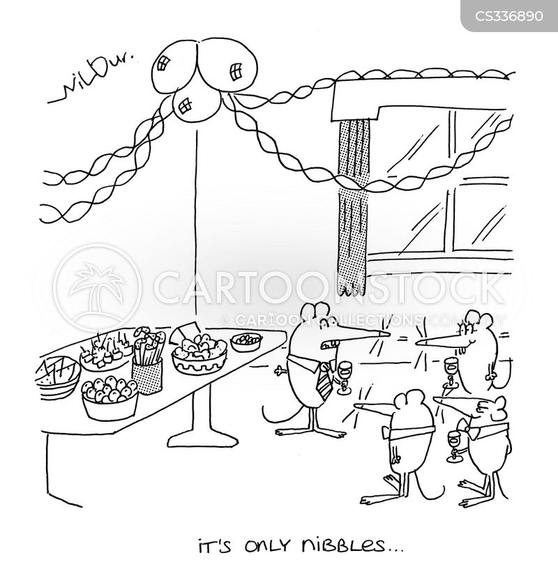 finger foods cartoon