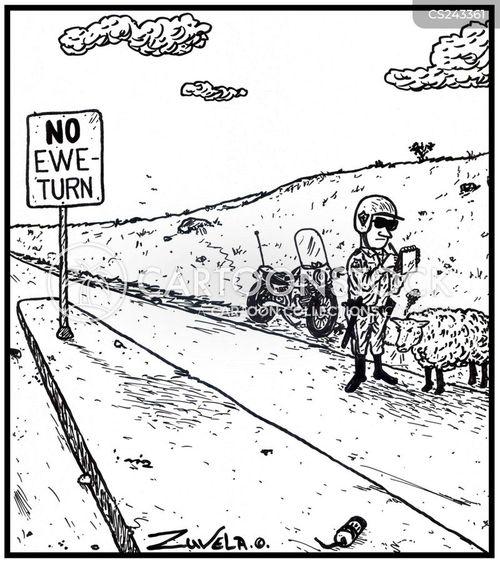 road cop cartoon