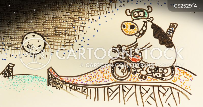bike stunts cartoon