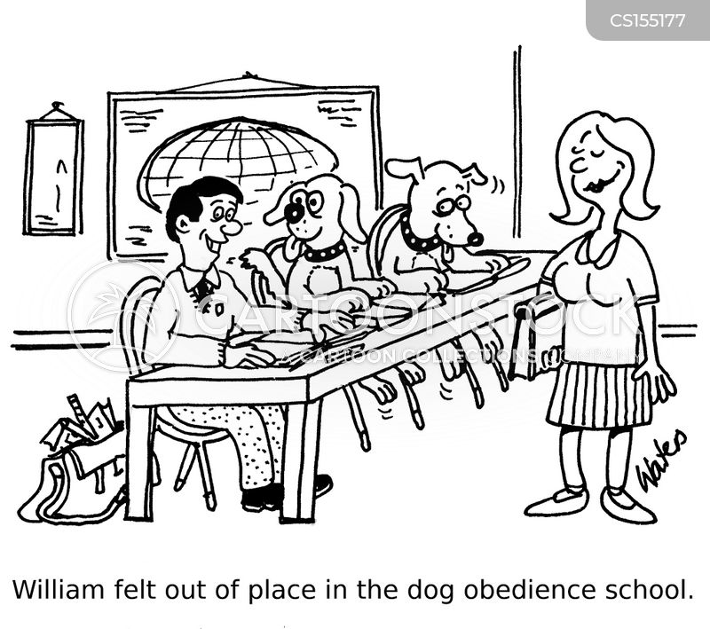 Dog School cartoons, Dog School cartoon, funny, Dog School picture, Dog School pictures, Dog School image, Dog School images, Dog School illustration, Dog School illustrations