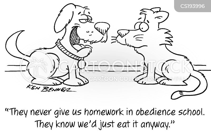 obedience schools cartoon
