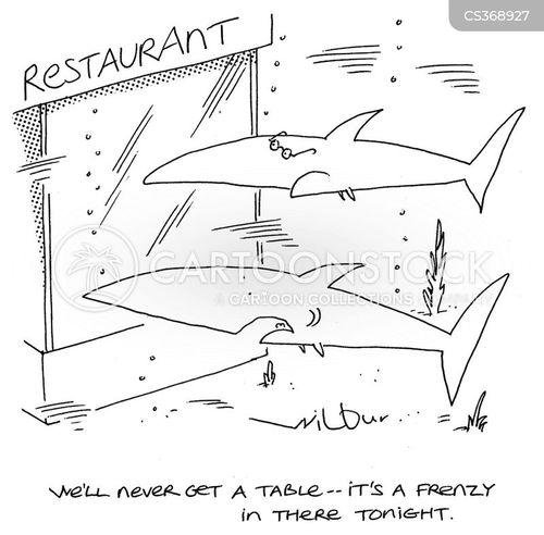 dinner reservations cartoon