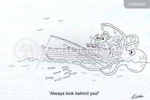 behind you cartoon
