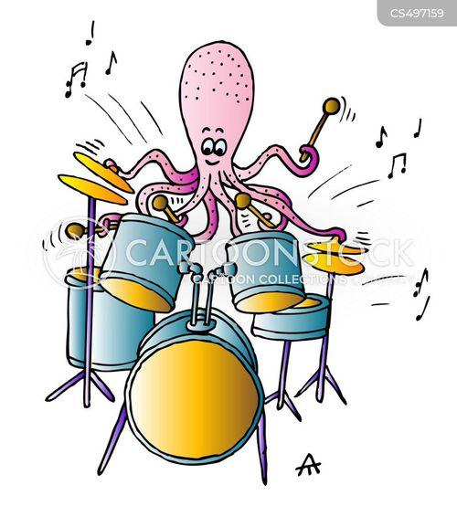 drumkits cartoon