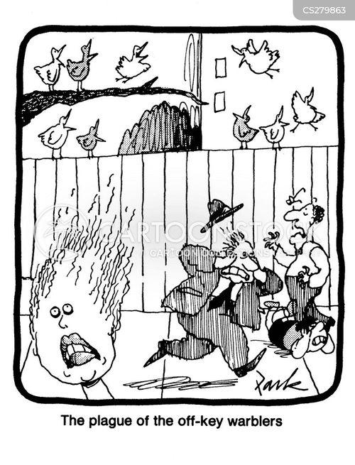 off-key cartoon