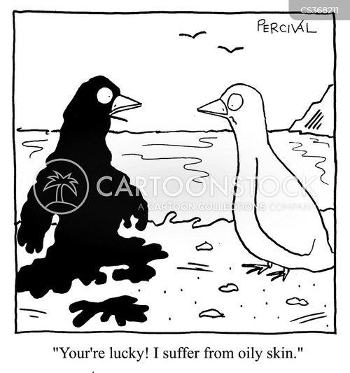 oily skin cartoon