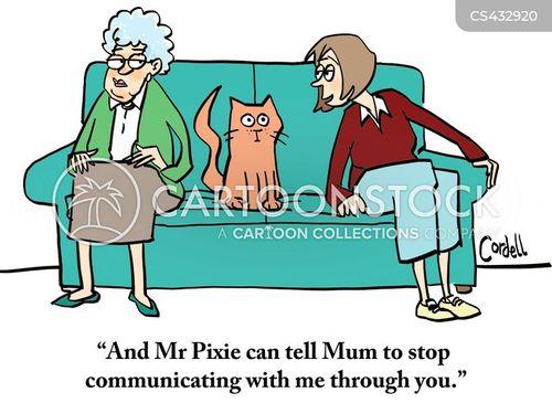 elderly parents cartoon