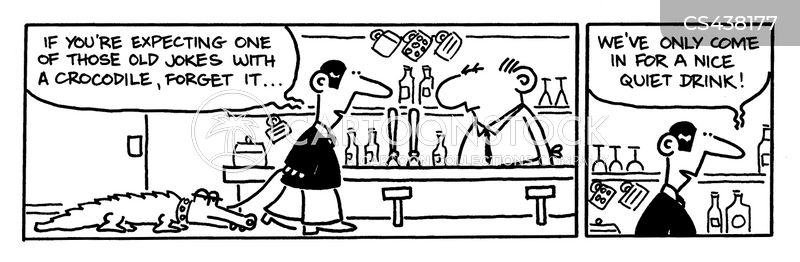 bar joke cartoon