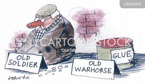 old soldier cartoon