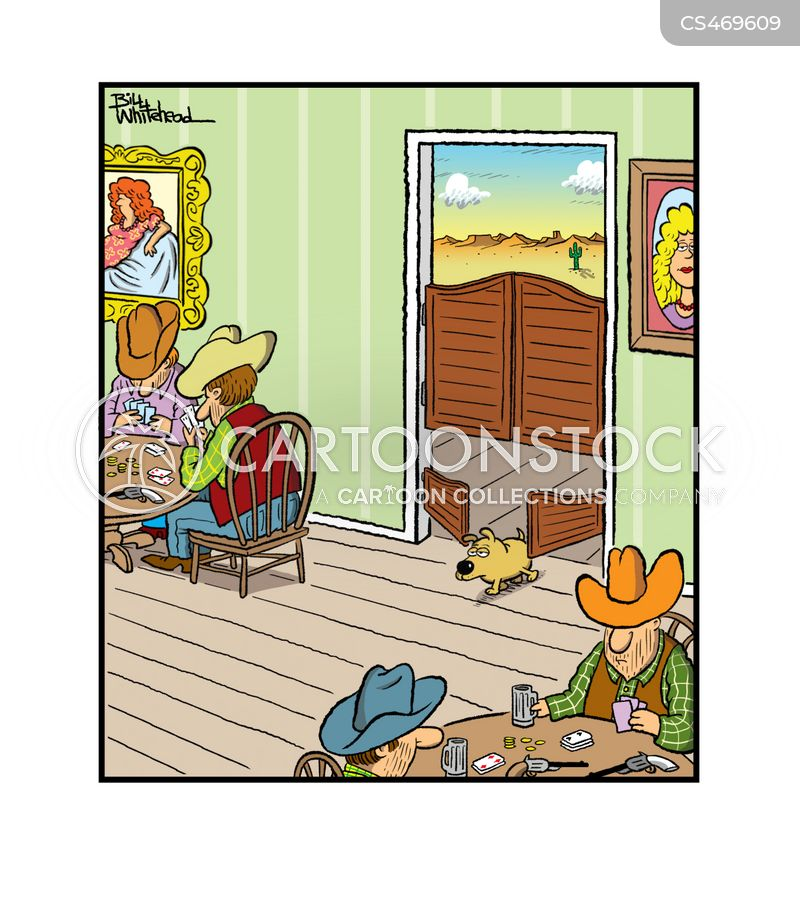 Saloon Door Cartoons and Comics - funny pictures from
