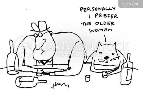 older women cartoon