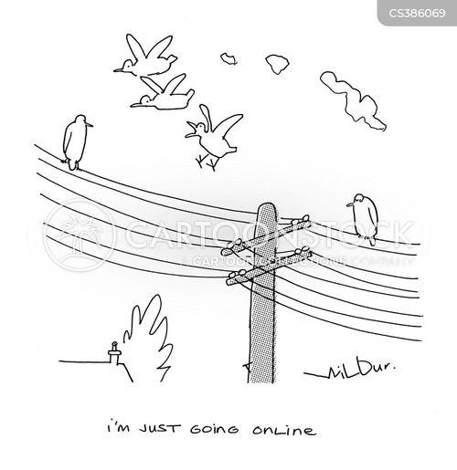 phone wires cartoon