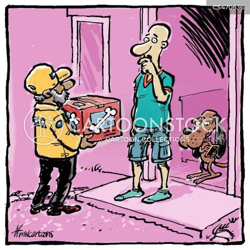 online orders cartoon
