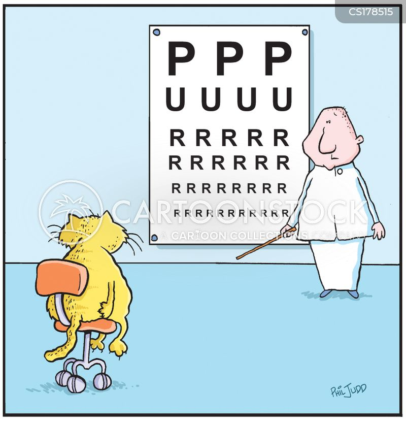 sight test cartoon