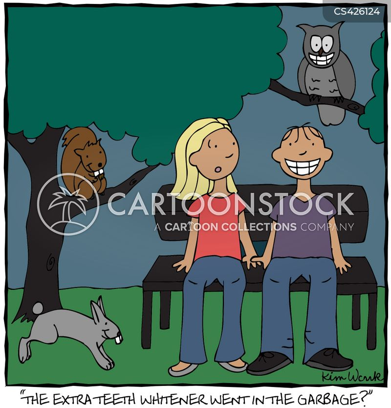 tooth whitening cartoon