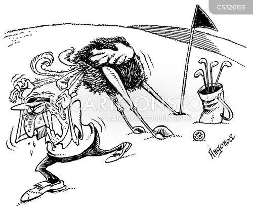 golf caddie cartoon