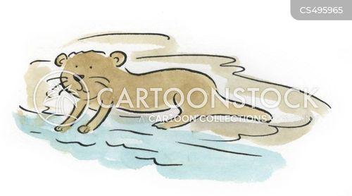 river animals cartoon