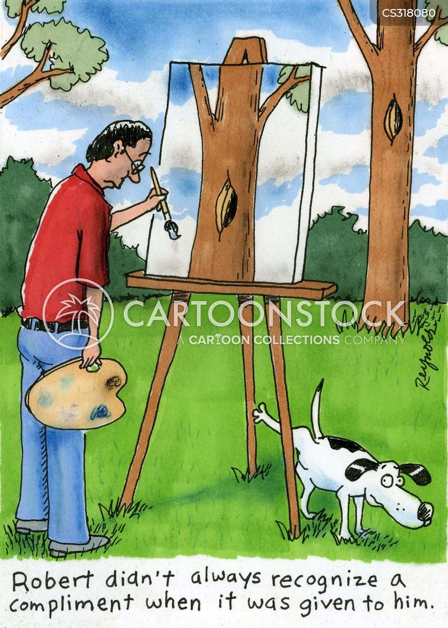 landscape painting cartoon