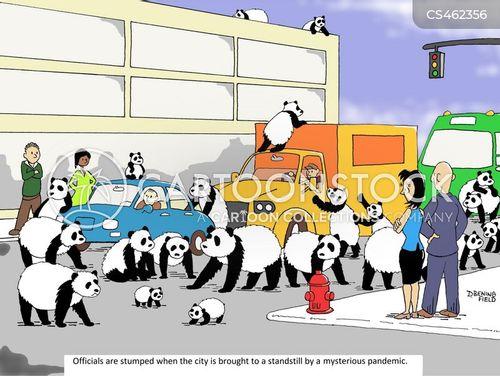 traffic congestion cartoon