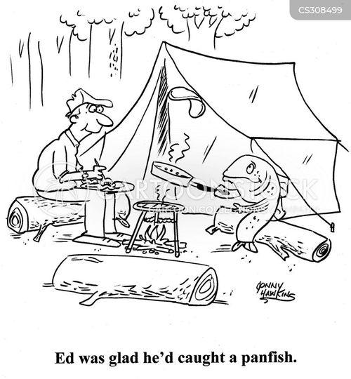fishing vacation cartoon