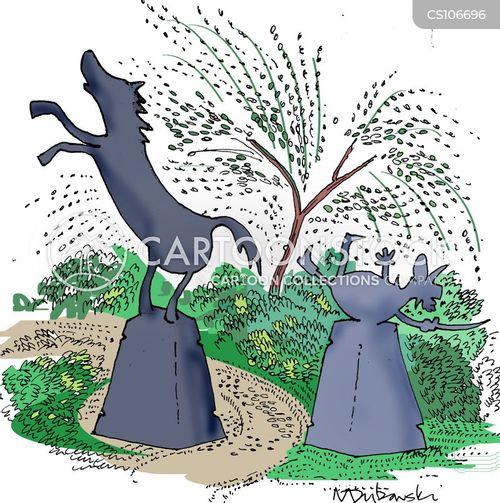 riding horses cartoon