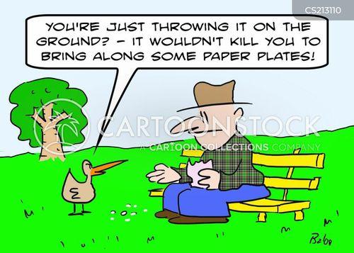 feeding the duck cartoon