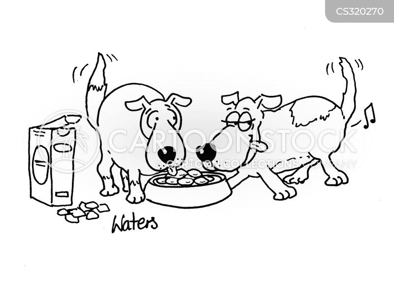 eating dinner cartoon