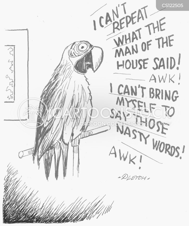 parrot trainers cartoon
