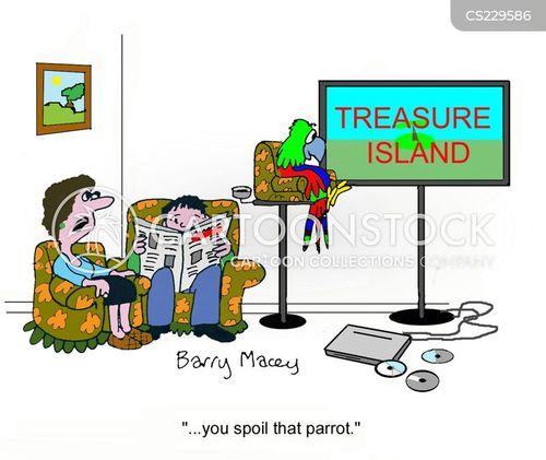flat screen tv cartoon