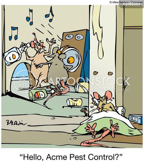noisy neighbor cartoon