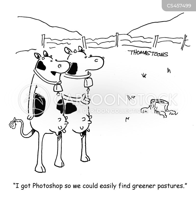 greener pastures cartoon