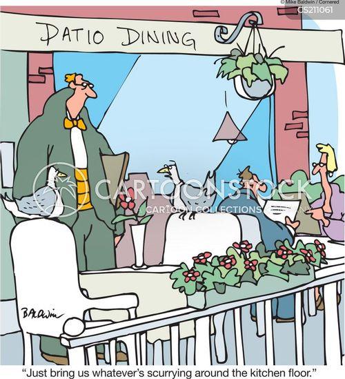 patio dining cartoon