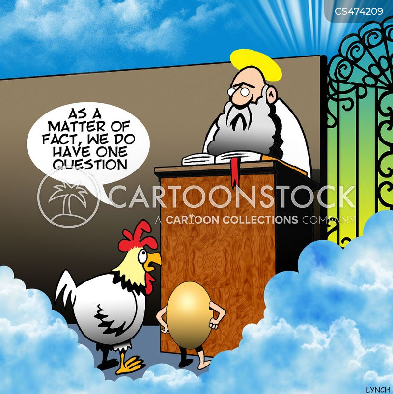 chicken and the egg cartoon