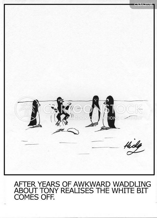 waddling cartoon