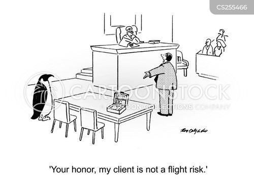 flight risk cartoon