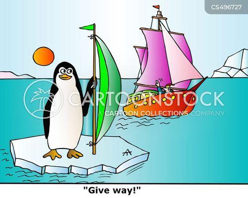 shipping lanes cartoon