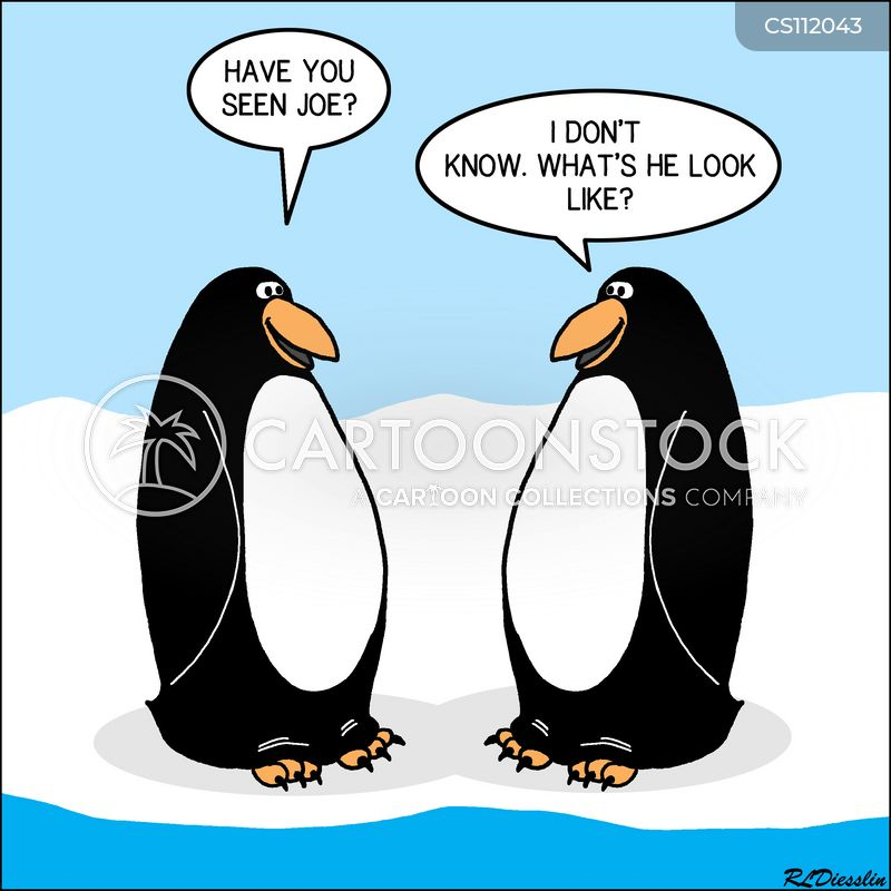 flock of penguins cartoon