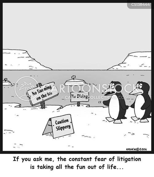 litigates cartoon
