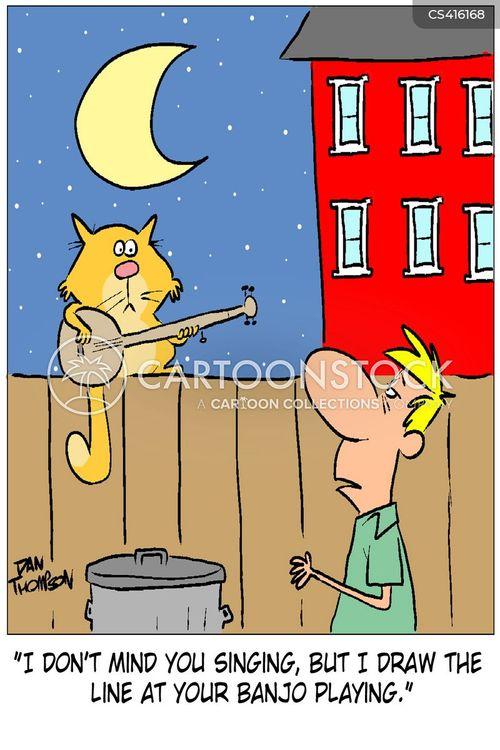 banjo player cartoon