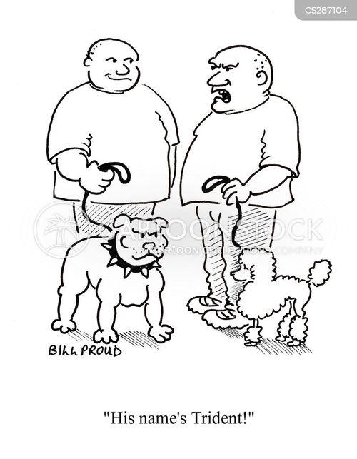 tough dogs cartoon