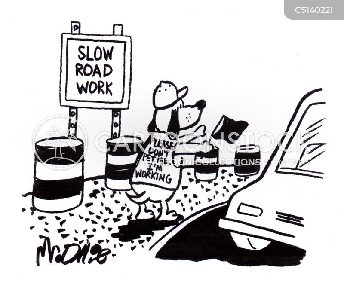 highway repairs cartoon