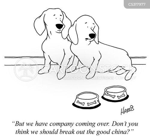 dog dishes cartoon