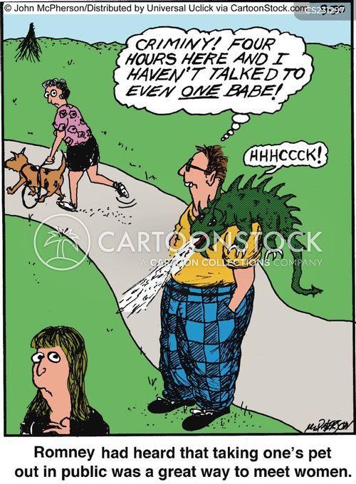 animal owner cartoon