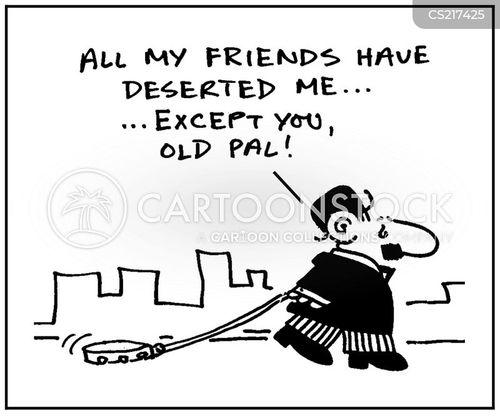 deserting cartoon