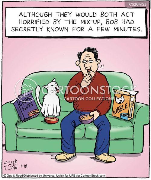 strange eating habits cartoon