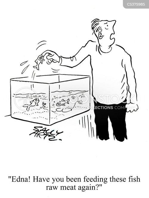 fish bites cartoon