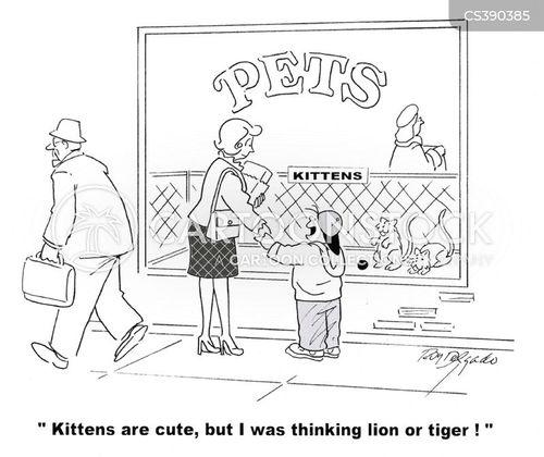 unusual pet cartoon