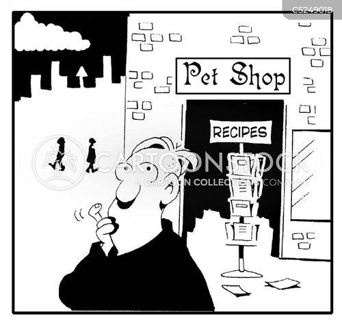 recipe card cartoon