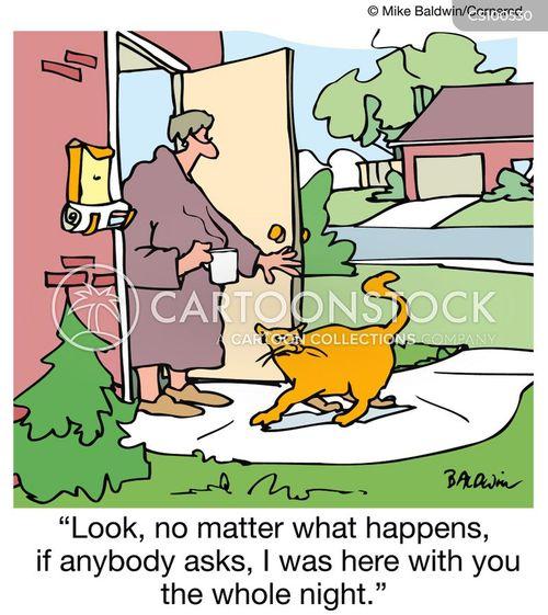 prowling cartoon